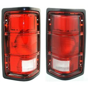Pair Set Taillight Taillamp With Black Bezel Housing For Dodge Pickup Truck Suv