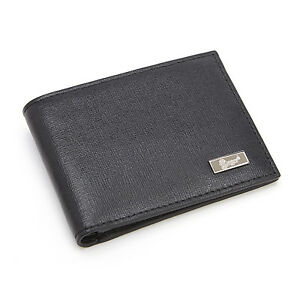 Royce Leather Black Rfid Blocking Hipster Bifold Wallet In Saffiano Leather