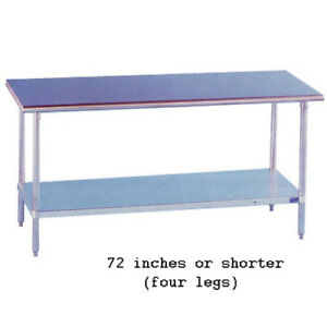 Stainless Steel Work Table 18 Wide Size 60