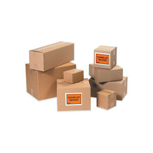 25 13x13x4 Flat Corrugated Shipping Packing Boxes
