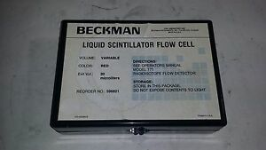 Beckman Liquid Scintillator Flow Cell Red 20 Microliters 596821