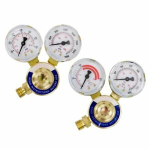 Rear Oxygen Acetylene Gas Welding Welder Regulator Pressure Gauge Victor Type