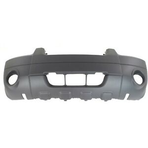 Front Bumper Cover For 2005 2007 Ford Escape W Fog Lamp Holes Textured