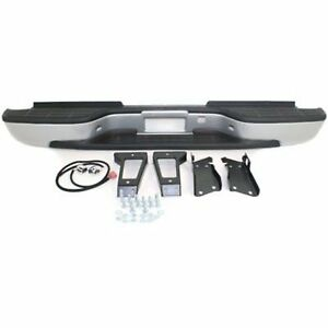 Step Bumper Assembly For 2001 2006 Chevy Silverado 3500 Fleetside Pwd ctd Silver
