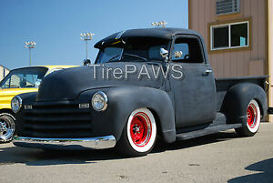 13 X3 Wide White Wall Gangster Style Insert Trim Set Hot Rod Old Scho Rad Rod