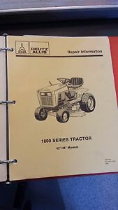 Deutz Allis 1800 Series Tractor Service Repair Manual