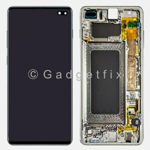 US For Samsung Galaxy S10 Plus OLED LCD Display Touch Screen Digitizer Frame $209.95