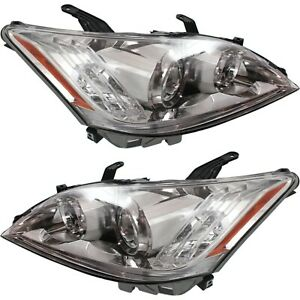 Headlight Set For 2010 2011 Lexus Es350 Base Model Left And Right Clear Lens 2pc