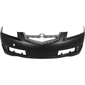 Front Bumper Cover For 2007 2008 Acura Tl W Fog Lamp Holes Primed