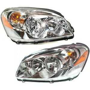 Headlight Set For 2006 2007 Buick Lucerne Left And Right With Bulb 2pc