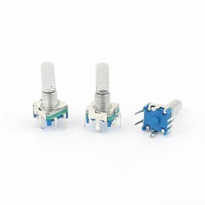 3pcs 6mm D Shaft 20 Detents Points 360 Degree Rotary Encoder Push Button Switch