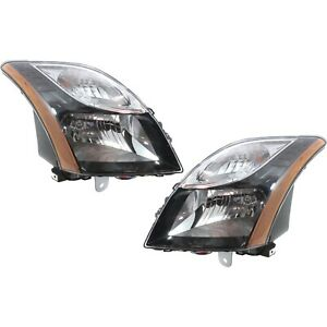 Headlight Set For 2010 2012 Nissan Sentra Se R Spec V Left And Right With Bulb