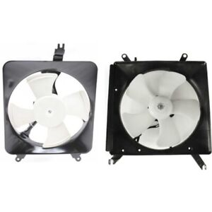 Radiator Cooling Fan W A C Condenser Fan For 90 93 Honda Accord Left Right