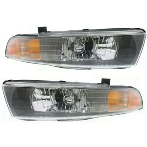 Headlight Set For 2002 2003 Mitsubishi Galant Left And Right With Bulb 2pc