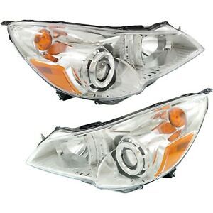 Headlight Set For 2010 2012 Subaru Outback Legacy Left Right Side W Bulb