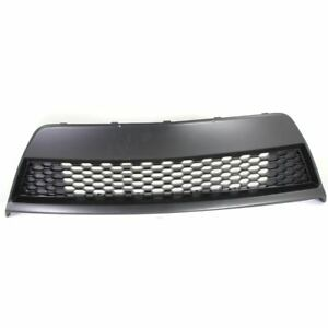 Bumper Grille For 2010 2013 Kia Forte Koup Center Textured Black Plastic