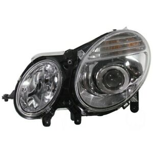 Headlight For 2007 2009 Mercedes Benz E350 E550 Driver Side W Bulb