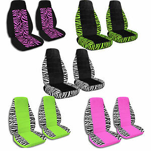 Cc Zebra Combinations Front Set Car Seat Covers Universal Special Sale