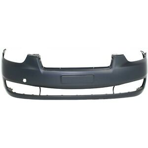 Front Bumper Cover For 2006 2011 Hyundai Accent Hatchback sedan W Tow Hook Hole