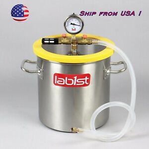 3 Gallon 250mm 9 8 Stainless Steel Vacuum Degassing Chamber Pc Lid From Usa