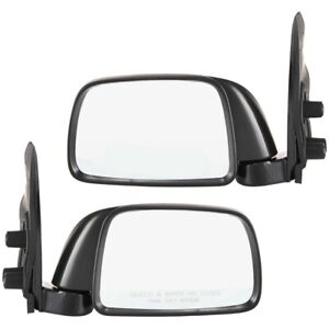 Set Of 2 Mirror Manual For 1995 2000 Toyota Tacoma Left Right Textured Black