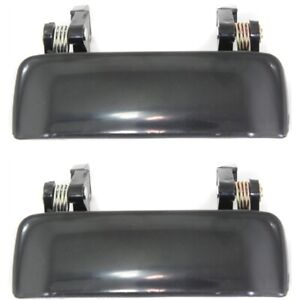 Door Handle Set For 2001 2011 Ford Ranger Smooth Black Front Outer 2pc