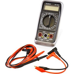 Elenco M 1750 Digital Multimeter With Ac dc capacitance frequency hfe Test