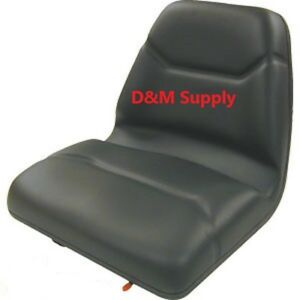 Deluxe High Back Lawn Garden Compact Tractor Michigan Style Seat Black