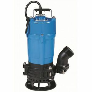 Tsurumi Submersible Trash Water Pump 2 inch Discharge W shaft Mounted Agitator
