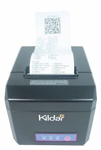 Receipts Thermal Printer W Usb Lan Cash Drawer And Serial Ports Kildar I8061