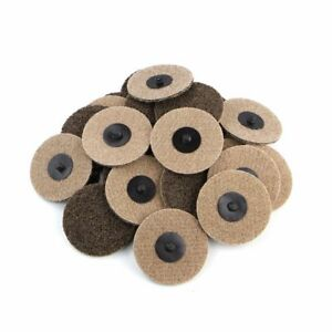 25pc 3 Coarse Grit Roloc Cleaning Roll Lock Surface Conditioning Sanding Disc