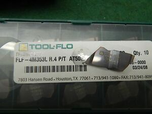 5 Tool Flo Flf 4m353l R 4 P t At50 138 Wide Carbide Grooving Inserts
