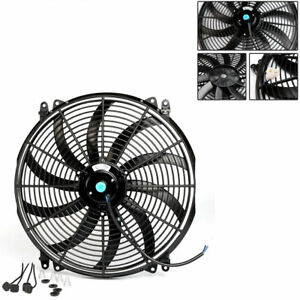 Universal 16 Inch 12v Electric Radiator Thermo Fan free Mounting Kits 1pcs Pro