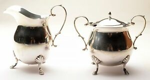 Antique Sterling Silver Cream And Sugar Baldwin And Miller