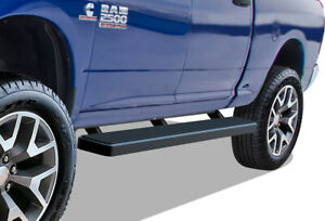 Iboard Running Boards 6in Black Fit 09 18 Dodge Ram 1500 2500 3500 Crew Cab