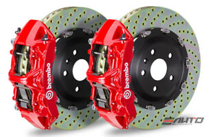 Brembo Front Gt Brake 6pot Red Caliper 380x34 Drill Mustang V6 Gt Ecoboost 15