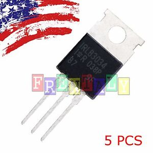5pcs 5x Irlb3034pbf Irlb3034 Hexfet Power Mosfet To 220 Us Ship