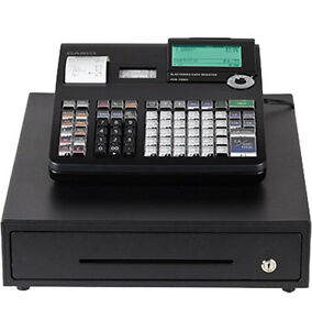 Casio Pcr t2300 Thermal Electronic Cash Register 10 Line Lcd 7000 Plu 4 Tax