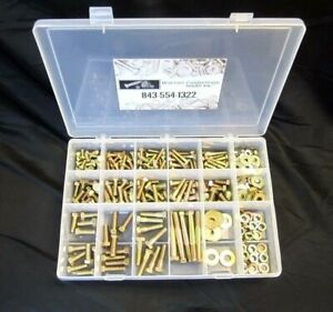 334pc Grade 8 Fine Thread Bolt nut And Washer Assortment With Plastic Box