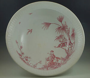 C 1874 Brown Westhead Mandarin Geishas Huge Wash Bowl Basin Red Transferware
