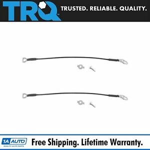 Trq Tailgate Cables Straps W Hardware Pair Set For Dodge Ram 1500 2500 3500