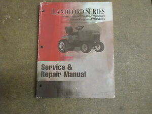 Simplicity Landlord Agco Allis Massey Ferguson 1718 2720 Tractor Repair Manual