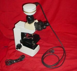 Olympus Cx41rf Upright Microscope W Dp70 Digital Camera 4x 10x 40x 60 Objec