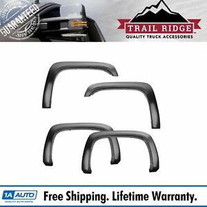 Trail Ridge Fender Flare Kit Factory Style Bolt On Smooth Black For Silverado