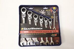 Gearwrench 7 Pc Metric Ratcheting Combination Flex Head Wrench Set 9900