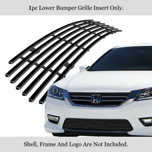 Fits 2013 2015 Honda Accord Sedan Black Lower Bumper Billet Grille