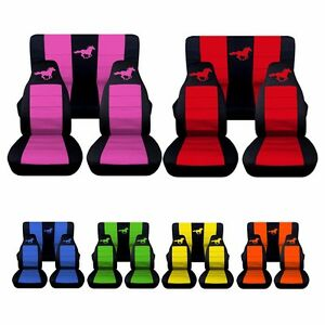 2005 2007 Ford Mustang Coupe Horse Seat Covers Choose Your Colors