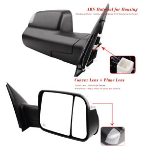 For 02 08 Dodge Ram Pickup Towing Mirrors Power Heated Tow Side Mirror Pair Set