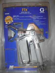 Graco Ftx 4 Finger Airless Spray Gun 288486 With 515 Racx Tip Guard Oneseal