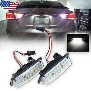 2x Xenon White 18 Led License Plate Light Lamps For Nissan Altima Maxima Murano